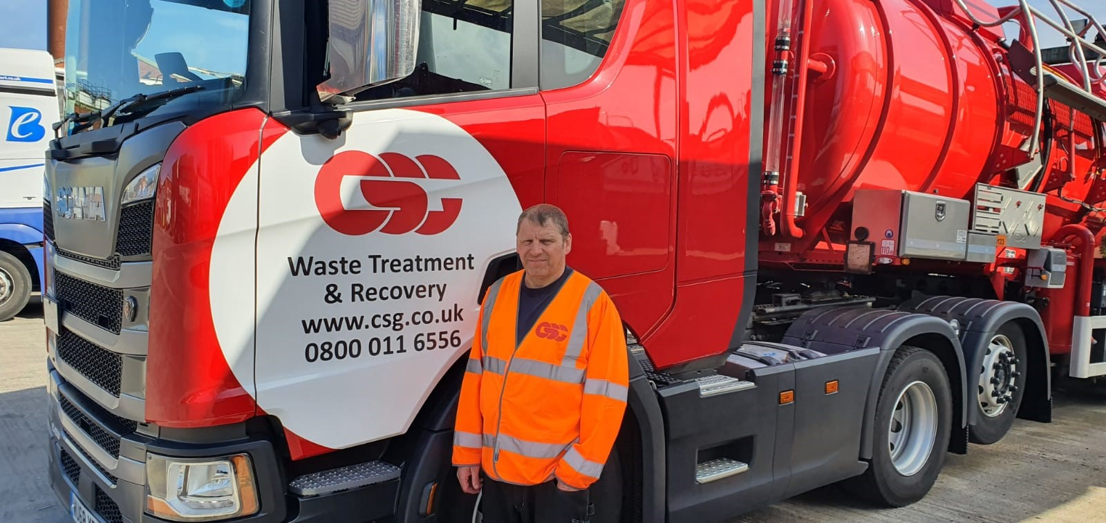 CSG Driver Gary Foote with his HGV-truck