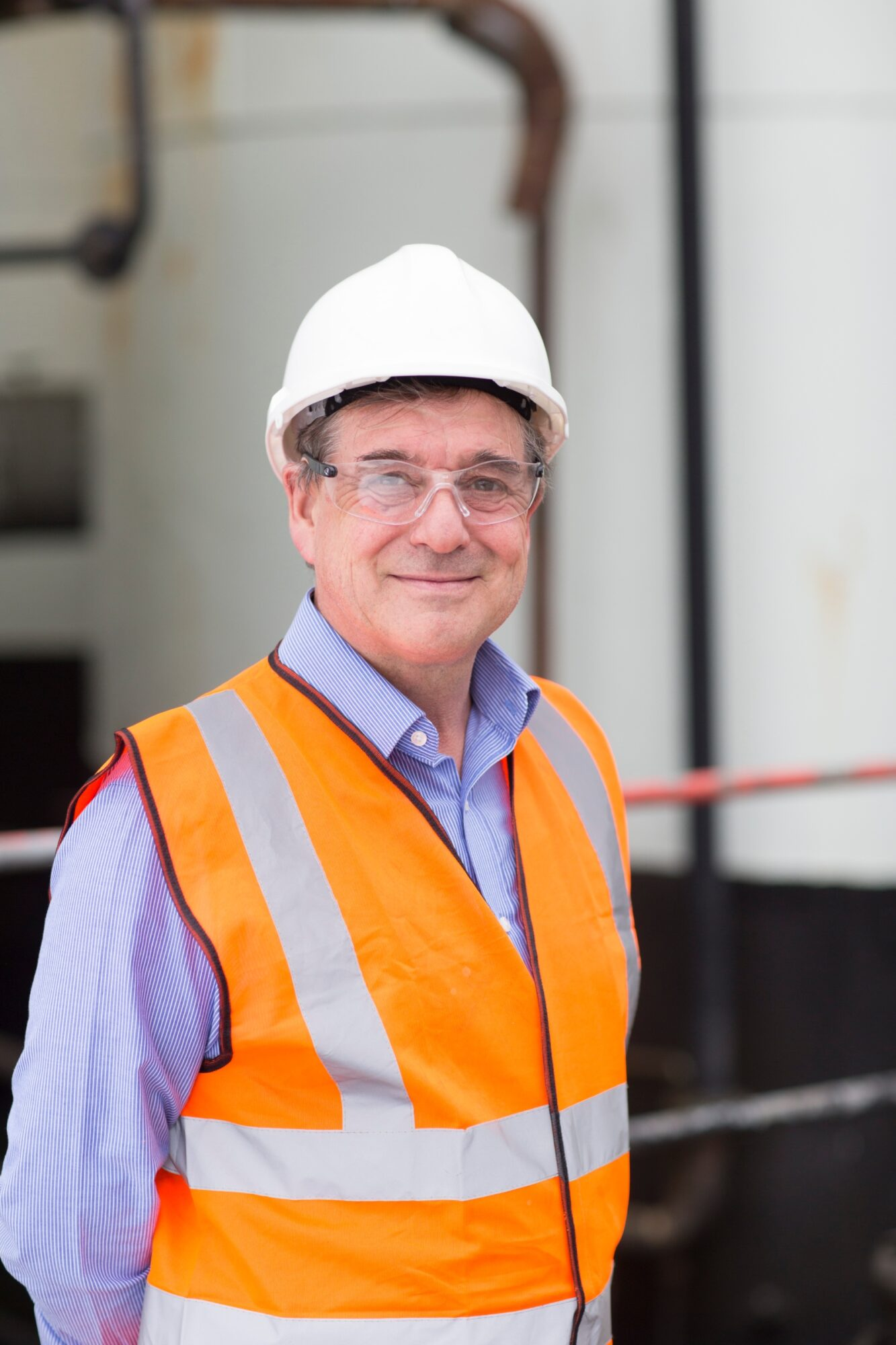 Managing Director Neil Richards with full PPE