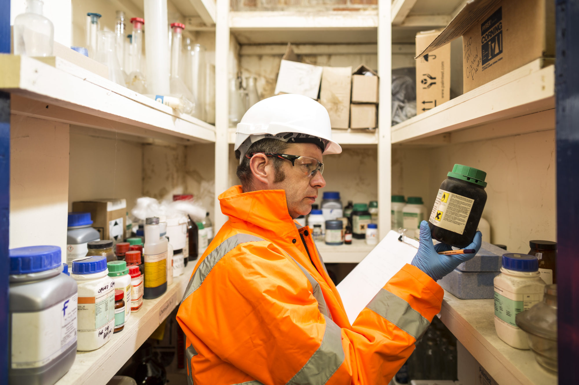 Laboratory waste removal